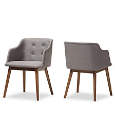 Harrison Button-Tufted Accent Chair (Set Of 2), Quick Ship