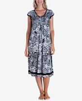 c883f225fb42 Ellen Tracy Printed Knit Ballet-Length Nightgown