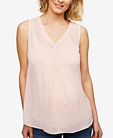 Daniel Rainn Maternity Striped Sleeveless Blouse