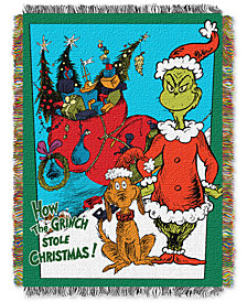 "Dr. Seuss 48"" x 60"" Triple Woven Tapestry Throw"
