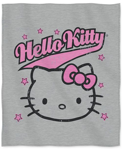 "Hello Kitty Sanrio 50"" x 60"" Sweatshirt Throw"