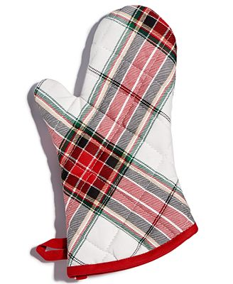 Martha Stewart Collection Deer Pond Cotton Plaid Oven Mitt, Created for Macy's
