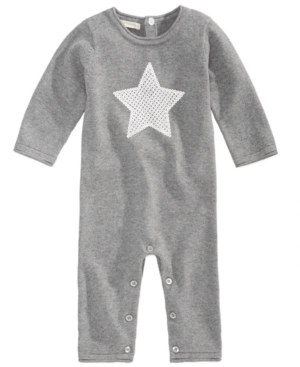 First Impressions Star Cotton Sweater Coverall Baby Girls  Baby Boys (024 months) Created for Macys