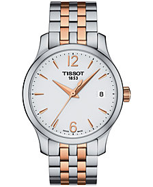 Tissot Women's Swiss Tradition Two-Tone Stainless Steel Bracelet Watch 42mm