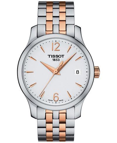 Tissot Women's Swiss Tradition Two-Tone Stainless Steel Bracelet Watch 42mm