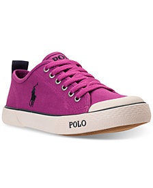 Polo Ralph Lauren Big Girls ' Carlisle III Casual Sneakers from Finish Line