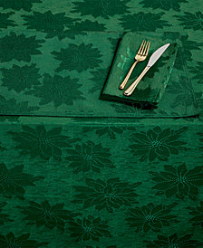 "Bardwil Winter Joy Green 60"" x 84"" Tablecloth"