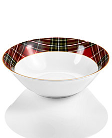 222 Fifth Wexford Plaid Serving Bowl