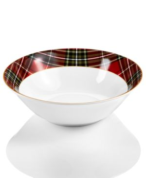 222 Fifth Wexford Plaid Serving Bowl 4758332