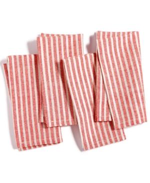 Homewear Korah Stripe Napkins Set Of 4