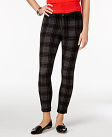 HUE® Women's Plaid Loafer Skimmer Leggings