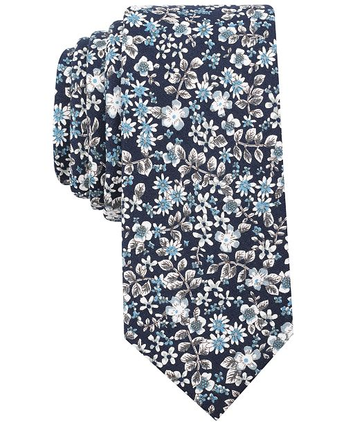Men's Franconia Floral Skinny Tie, Created for Macy's