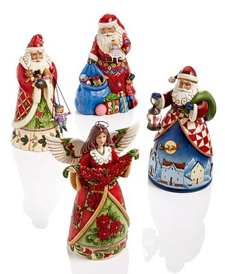 With Bright Colors And Intricately Detailed Motifs The Christmas Collection Figurines From Jim Shore Are A Festive Folk Inspired Accent For Any Seasonal