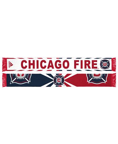 adidas Chicago Fire Jacquard Wordmark Scarf