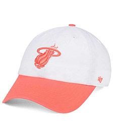 the best attitude 2e8d3 56824  47 Brand Miami Heat Pastel Rush CLEAN UP Cap ·