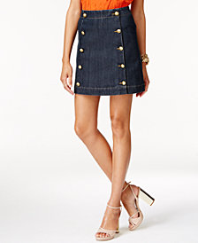 MICHAEL Michael Kors Petite Denim Mini Skirt