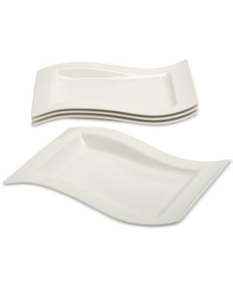New Wave 4-Pc. Gourmet Plate Set