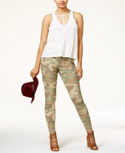 American Rag Juniors' Lace-Trim Top & Skinny Pants, Created for Macy's