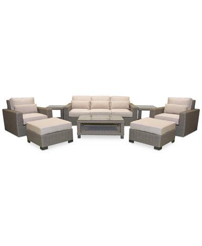 Del Mar 8-Pc. Set (1 Sofa, 2 Swivel Club Chairs, 2 Ottoman, 1 Coffee Table & 2 End Tables)