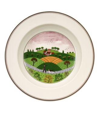 Dinnerware, Design Naif Rim Soup Bowl Hunter & Dog