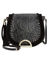 INC International Concepts Maraa Embossed Saddle Bag, Created for Macy's