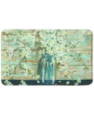 "Blossoms in Jar 22"" x 35"" Rectangular Accent Rug"