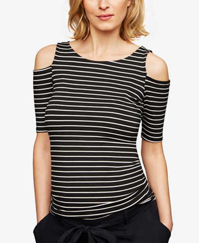 A Pea In The Pod Maternity Cold-Shoulder T-Shirt
