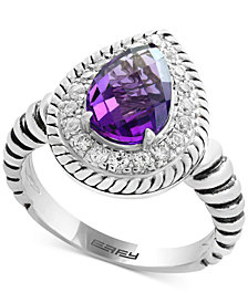 EFFY® Amethyst (1-3/4 ct. t.w.) & White Sapphire (1/2 ct. t.w.) Ring in Sterling Silver