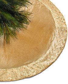 Holiday Lane Gold Sequin Border Tree Skirt, Created for Macy's