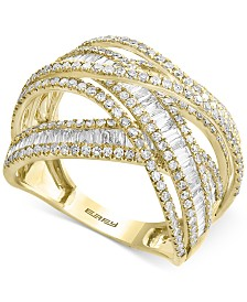 EFFY® Diamond Multi-Band Weave-Style Ring (2 ct. t.w.)