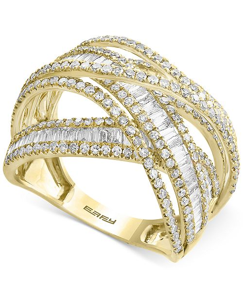 EFFY Collection EFFY® Diamond Multi-Band Weave-Style Ring (2 ct. t.w.)