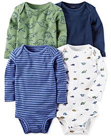 Carter's 4-Pk. Dinosaur-Print Cotton Bodysuits, Baby Boys