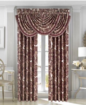 "Rosewood Burgundy 33"" x 49"" Waterfall Window Valance"