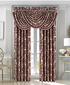 "J Queen New York Rosewood Burgundy 33"" x 49"" Waterfall Window Valance"