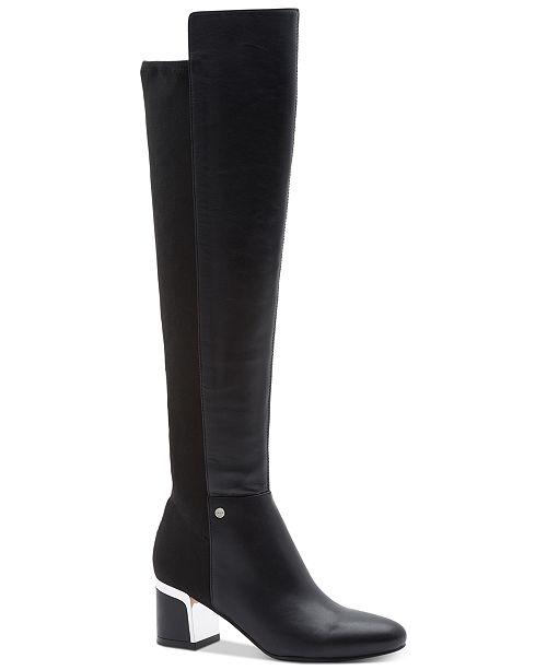 f225ac272530 DKNY Cora Wide Calf Boots