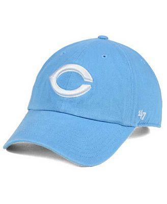 '47 Brand Women's Cincinnati Reds Powder Blue/White CLEAN UP Cap