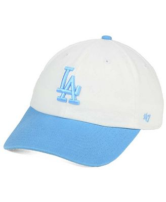 '47 Brand Women's Los Angeles Dodgers Powder Blue/White CLEAN UP Cap