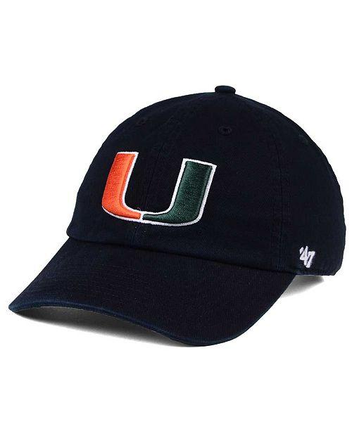 8e5e49ed18355 47 Brand Miami Hurricanes CLEAN UP Cap - Sports Fan Shop By Lids ...