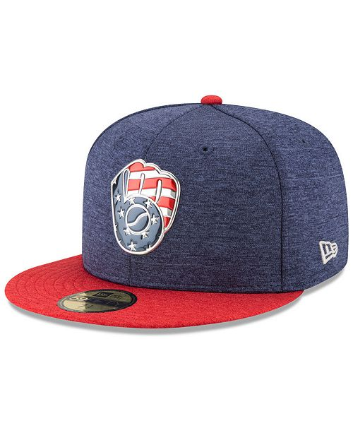 newest 6cf5f 7058d New Era. Milwaukee Brewers Authentic Collection Stars   Stripes 59FIFTY  Cap. Be the first to Write a Review. main image ...