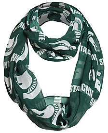 Forever Collectibles Michigan State Spartans All Over Logo Infinity Wrap Scarf