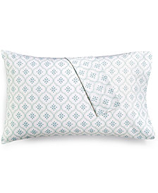 CLOSEOUT! Martha Stewart Collection Printed Standard Pillowcase Pair, 400 Thread Count 100% Cotton Percale, Created for Macy's