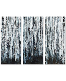 Madison Park Birch Forest 3-Pc. Gel-Coated Canvas Print Set