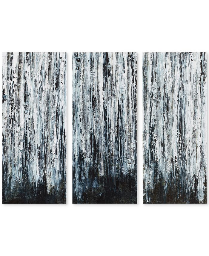 JLA Home - Birch Forest 3-Pc. Gel-Coated Canvas Print Set