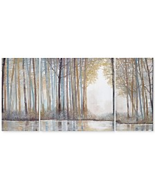 Madison Park Forest Reflections 3-Pc. Gel-Coated Canvas Print Set