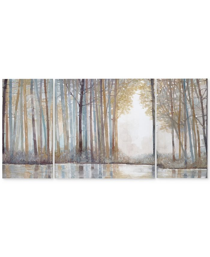 JLA Home - Forest Reflections 3-Pc. Gel-Coated Canvas Print Set