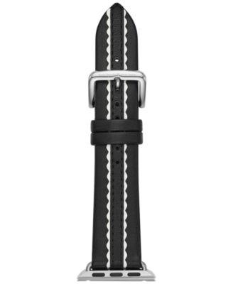 Black Leather Apple Watch® Strap 38mm