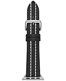 Women's Black Leather Apple Watch® Strap 38mm