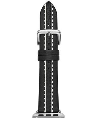 Black Leather Apple Watch® Strap 38mm by Kate Spade New York