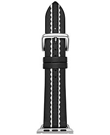 kate spade new york Black Leather Apple Watch® Strap 38mm