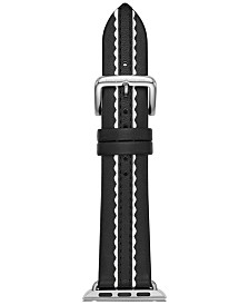 kate spade new york Women's Black Leather Apple Watch® Strap 38mm